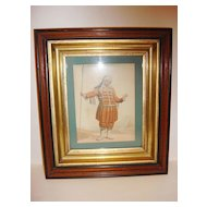Beautiful Antique Wooden Gilded Picture Frame