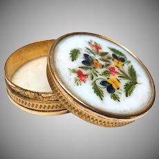 Antique French Opaline Boite à Dragées (Candy Box)