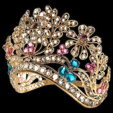 Antique Nineteenth Century French Curved Filiagree Santos Crown