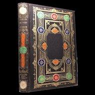 "Antique 19th Century French Romantic Binding, ""Paris a Jerusalem"""