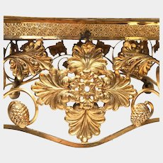 Exquisite Antique Nineteenth Century Gilded Bronze French Lutrin Stand