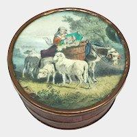 Antique 19th Century French Color Lithograph BonBon Box
