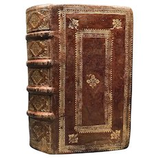 "Fine Antique Renaissance Seventeenth Century French Binding ""Historiarum"""