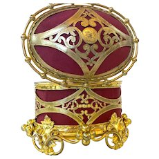 Ravishing Antique Napoleon III Era French Gilded Bronze Box