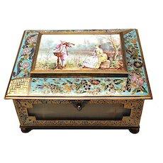 Napoleon III Cloisonne Onyx Casket Box