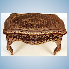 Miniature French Gilt Tooled Leather Table/Box
