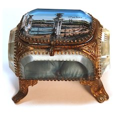 "Antique French ""Grand Tour"" Beveled Glass Jewel Casket"