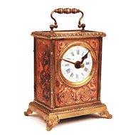 Nineteenth Century French Vernis Martin/Bronze Ormolu Carriage Clock