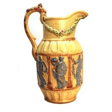 Antique 19th Century French Majolica Pitcher
