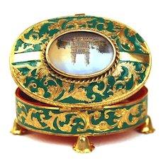 """Antique French """"Palais Royal"""" Enamel  Trinket Box"""
