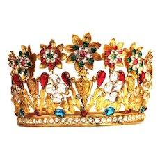 Antique Nineteenth Century French Santos/Madonna Crown