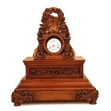 Antique Nineteenth Century French Carved Wooden Porte Montre (Pocket Watch Holder)