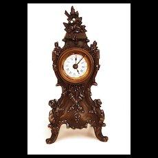 Antique Nineteenth Century French Case Metal Boudoir Clock