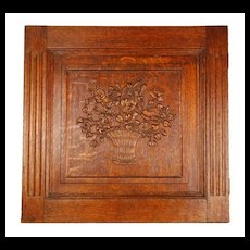 Antique Nineteenth Century Carved Architectural Panel