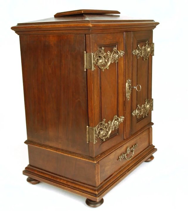 Antique French Miniature Armoire/Cabinet - Antique French Miniature Armoire/Cabinet : Paris Chateau Ruby Lane