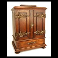 Antique French Miniature Armoire/Cabinet