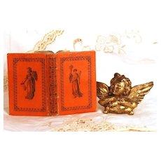 """Antique Nineteenth Century French """"Gotha"""" Almanach circa 1821"""