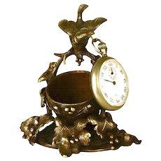 Antique 19th Century French Figural Vide Poche/Porte Montre/Watch Holder