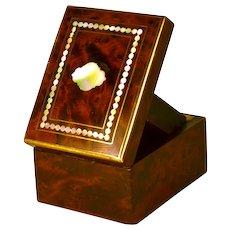 Antique Napoleon III Era Bird's Eye Maple/ Mother of Pearl Porte Montre/Watch Holder/Presentation Box