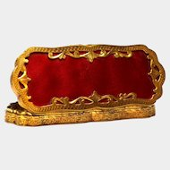Antique Nineteenth Century French Guilloche Gilded Brass Box
