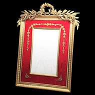 EXTRAORDINARY LARGE Antique Napoleon III Era French Gilded Bronze Brass Portrait Picture Frame
