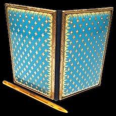 Antique Nineteenth Century French Bresse Kiln Fired Enamel Carnet de Bal