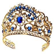Fine Antique Nineteenth Century French Gilded Brass Santos Madonna Diadem Crown
