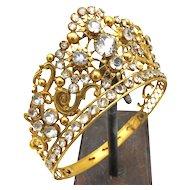 Antique 19th c. French Gilded Bronze Santos Diadem Crown