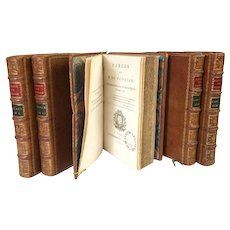 Antique 18th Century French Bindings Oeuvres de Florian