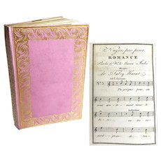 Antique 19th Century French Almanach Aux Dames With Original Box