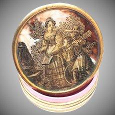 Fine Antique Napoleon III Eglomise Boite/Box