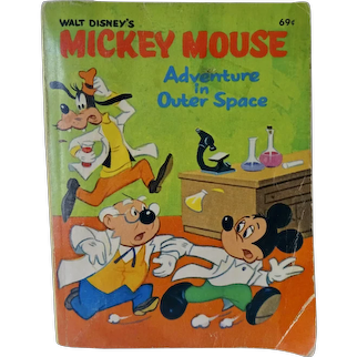 Walt Disney Mickey Mouse Adventure In Outer Space 1968