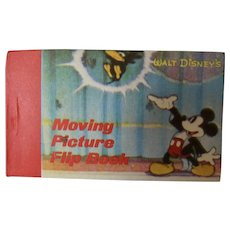 Walt Disney's Moving Magician Mickey Picture Flip Book 1986