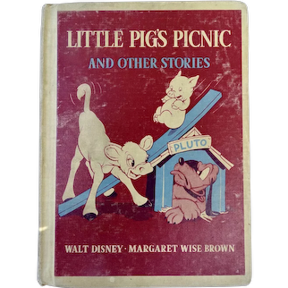 1939 Walt Disney Little Pig's Picnic And Other Stories By Margaret Wise Brown