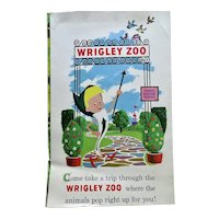 Wrigley Gum Zoo 1960 Pop Up Booklet Sloth