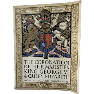 Vintage Coronation King George VI and Queen Elizabeth 1937 Souvenir Programme