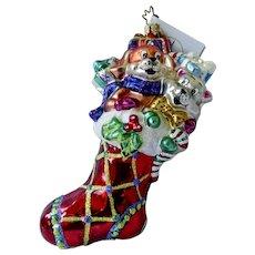 Christopher Radio Christmas Ornament Stocking Paws