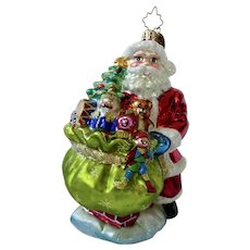Christopher Radio Christmas Santa Ornament Titled Deluxe Delivery