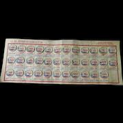 US Presidents Milk Bottle Cap Chart Complete By Sunnydale Farms