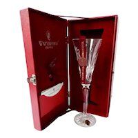 Waterford 12 Days Of Christmas 5th Day Gold Rings Champagne Flute