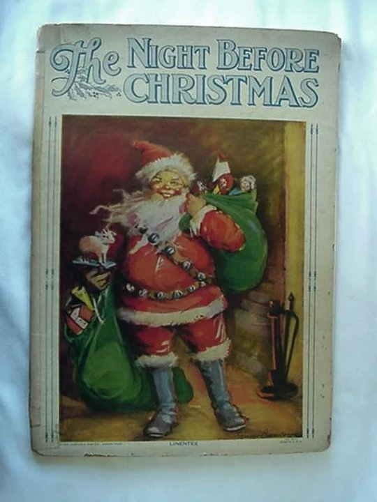 linentex the night before christmas book illustrated by frances brundage