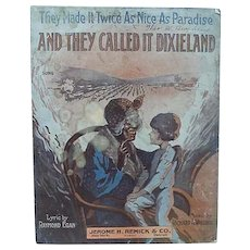 Black Americana Sheet Music Black Mammy on Cover And They Called It Dixieland