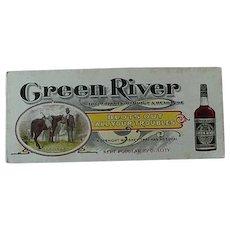 Black Americana Green River Advertising Ink Blotter