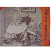 Advertising Stereoview Stereo View Card Vail's Ideal Tooth Powder