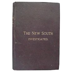 Black Americana Book The New South Investigated By D Augustus Straker First Edition 1888