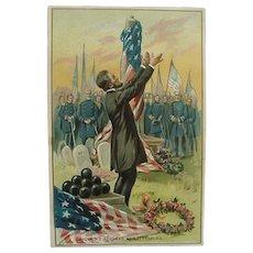 Tuck's Embossed Postcard Abraham Lincoln Address At Gettysburg Postcard