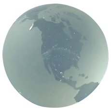 Frosted Crystal World Globe Paper Weigh
