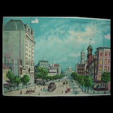 Washington DC Hold To Light Postcard 1915 Pennsylvania Ave