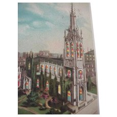 Grace Church NY Hold To Light Postcard 1907