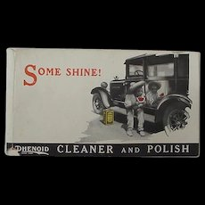 Black Americana Advertisng Coupon Phenoid Cleaner And Polish For Automobiles Black Boy With Watermelon